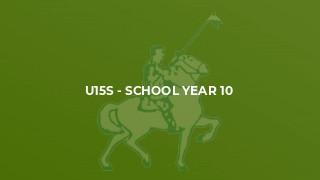 U15s - School Year 10