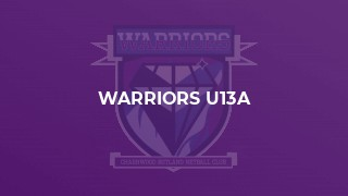 Warriors U13a
