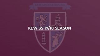 Kew 3s 17/18 Season