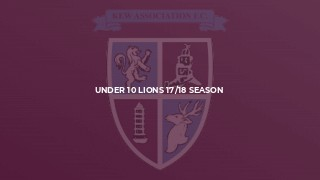Under 10 Lions 17/18 Season