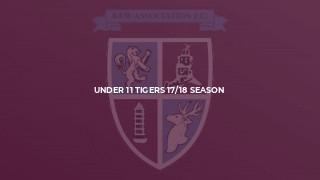 Under 11 Tigers 17/18 Season