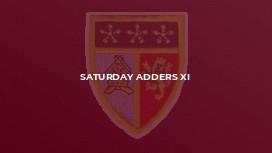 Saturday Adders XI