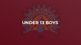Under 13 Boys