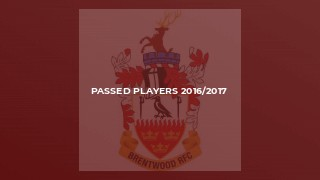 Passed Players 2016/2017