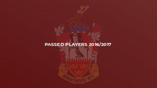 Passed Players 2016/2017