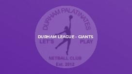 Durham League - Giants