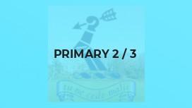Primary 2 / 3