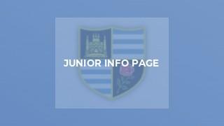 Junior Info Page
