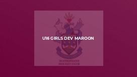 U16 Girls Dev Maroon