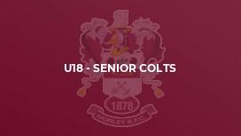 U18 - Senior Colts