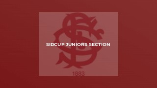 Sidcup Juniors Section