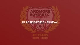U7 Academy Red - Sunday