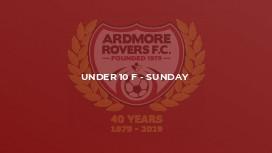 Under 10 F - Sunday