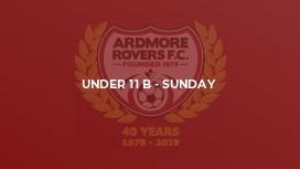 Under 11 B - Sunday