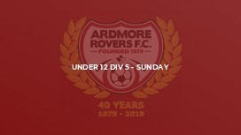 Under 12 Div 5 - Sunday