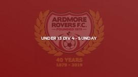 Under 13 Div 4 - Sunday