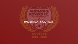 Under 15 A - Saturday