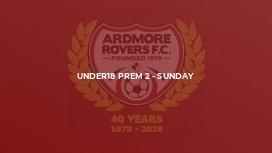 Under18 Prem 2 - Sunday
