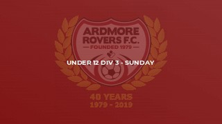 Under 12 Div 3 - Sunday