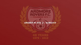 Under 14 Div 2 - Sunday