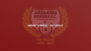 Under 15 Prem2 - Saturday
