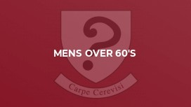 Mens Over 60's