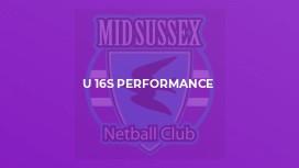 U 16s Performance