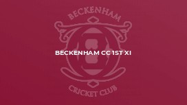Beckenham CC 1st XI
