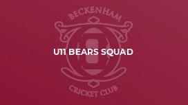 U11 Bears Squad