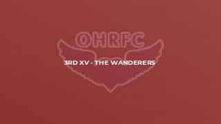 3rd XV - The Wanderers