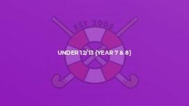 Under 12/13 (Year 7 & 8)