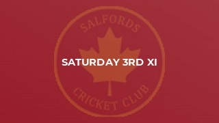Saturday 3rd XI