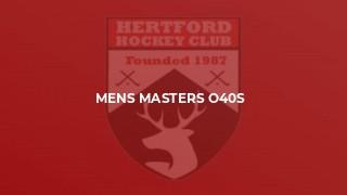 Mens Masters O40s