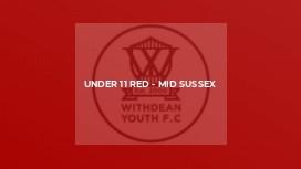 Under 11 Red - Mid Sussex
