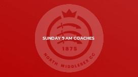Sunday 9 am coaches