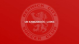 U8 Kangaroos - Lions