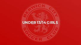 Under 13/14 Girls