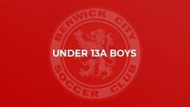 Under 13A Boys