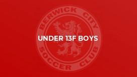 Under 13F Boys