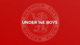 Under 14E Boys