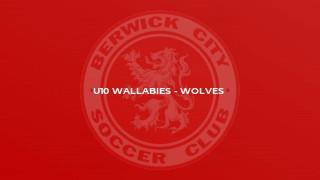 U10 Wallabies - Wolves