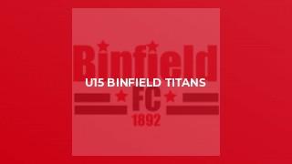 U15 Binfield Titans