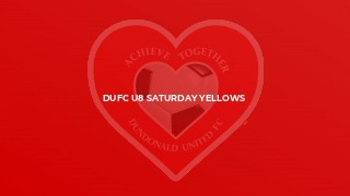DUFC U8 Saturday Yellows
