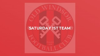 Saturday 1st Team v AFC Crowthorne