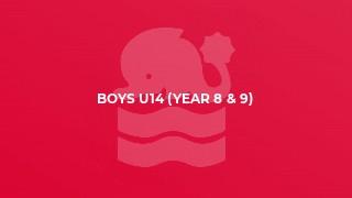 Boys U14 (year 8 & 9)