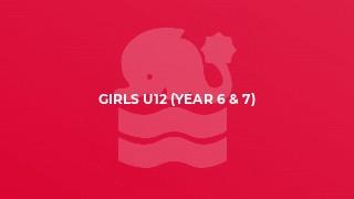 Girls U12 (year 6 & 7)