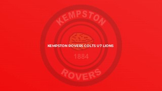 Kempston Rovers Colts U7 Lions