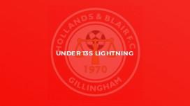 Under 13s Lightning