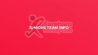 Juniors Team Info