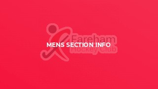 Mens Section Info